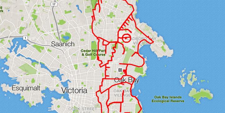 好奇妙!艺术家的GPS骑行纪录涂鸦