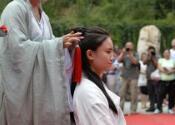 河北邢台举办汉式女子成人礼