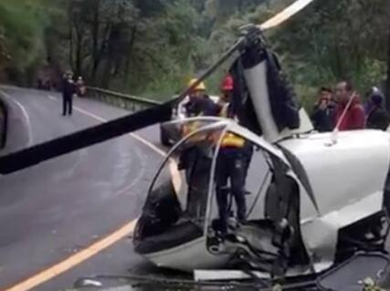 一架小型直升机在峨眉山景区坠落 机上两人轻伤