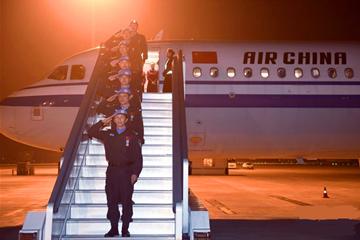 中国第六支赴南苏丹维和警队凯旋
