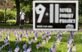 """美国多地举行活动纪念""""9·11""""事件17周年"""
