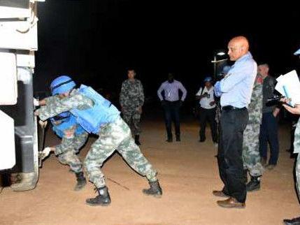 中國第15批赴蘇丹達爾富爾維和工兵分隊獲好評