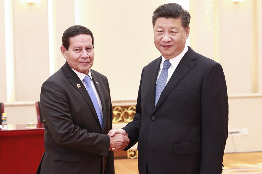 习近平会见巴西副总统莫朗