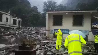 四川汶川发生滑坡泥石流 已致4人遇难11人失联