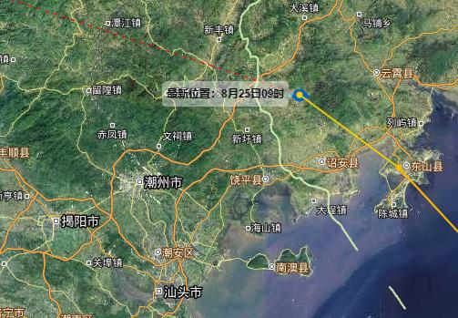"""台风""""白鹿""""在福建省东山县沿海登陆"""
