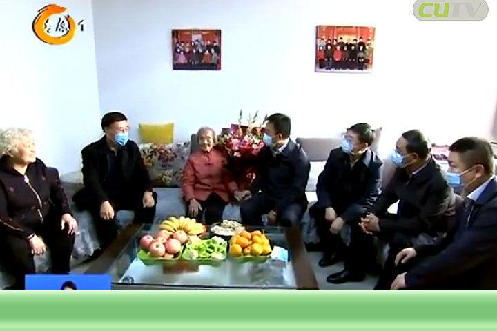 李新春看望慰问百岁老人