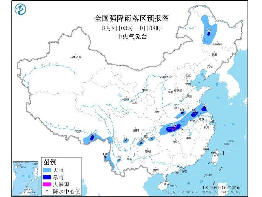 江汉江淮等地有强降雨 江南华南等地有高温天气